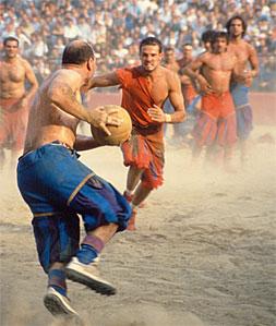 Imágen de un partido actual de Calcio Storico