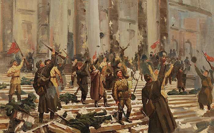 """Storming of the Winter Palace"", Galina Alexandrovna Zubchenko"