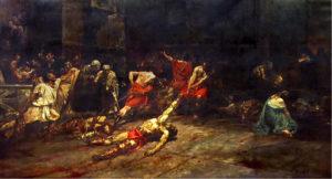 Los juegos gladiatorios