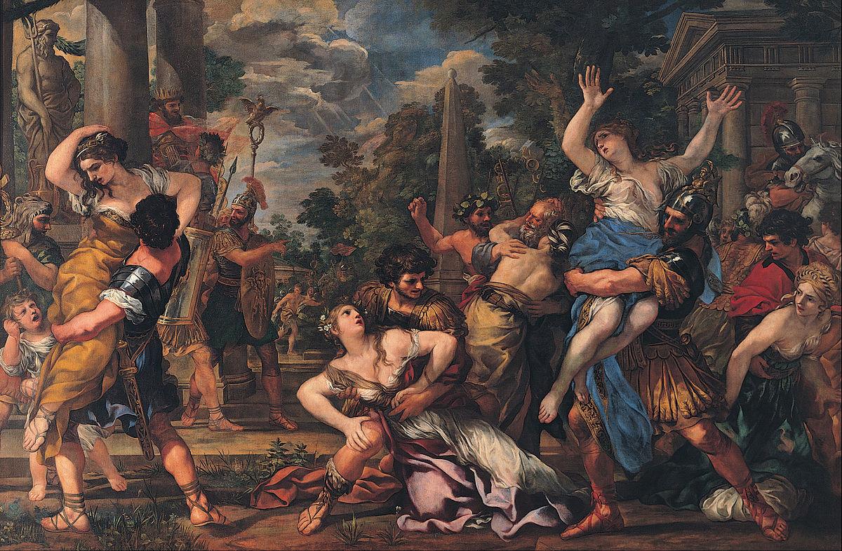 El rapto de las sabinas (ca. 1630), por Pietro da Cortona.