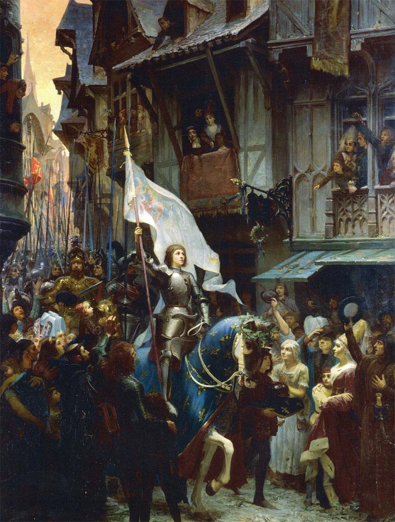 Juana de Arco entra en Orleans (J.J. Sherer, 1887)